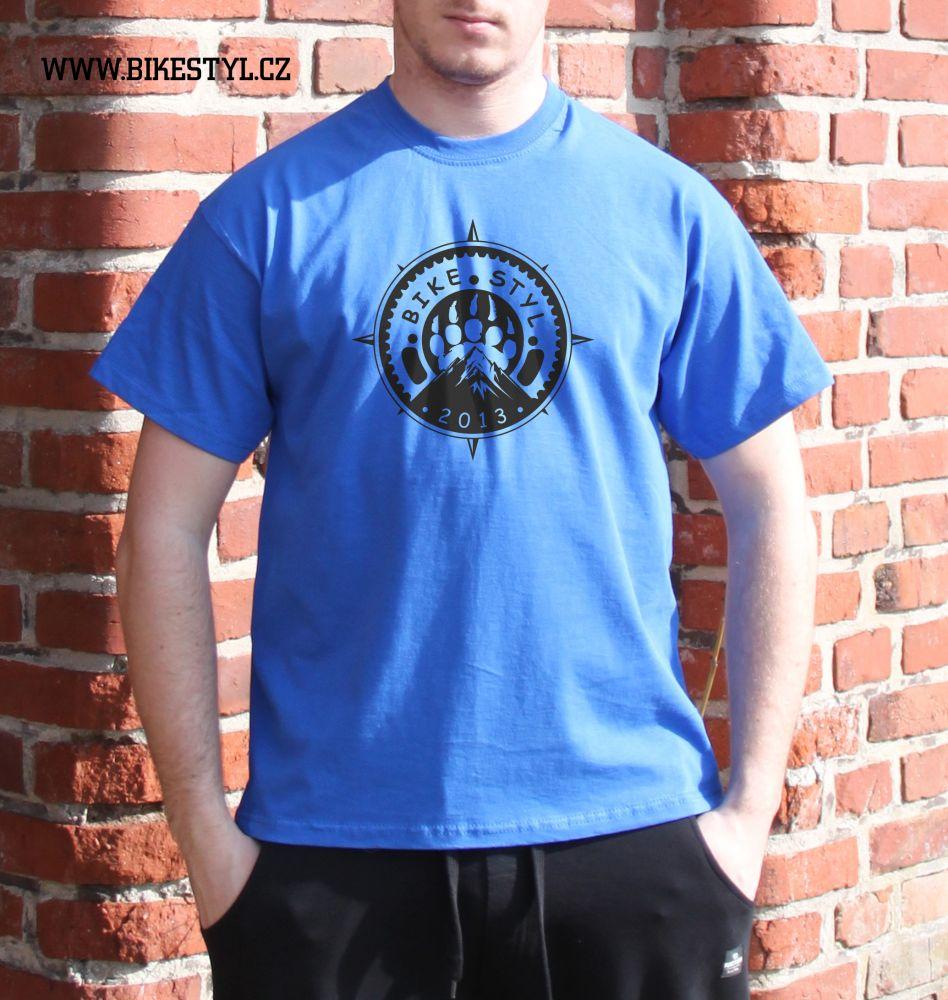 pánské tričko Bikestyl blue