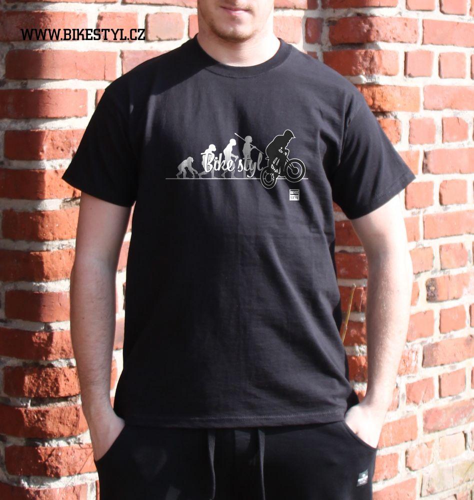 pánské tričko Bike Evolution bikestyl black