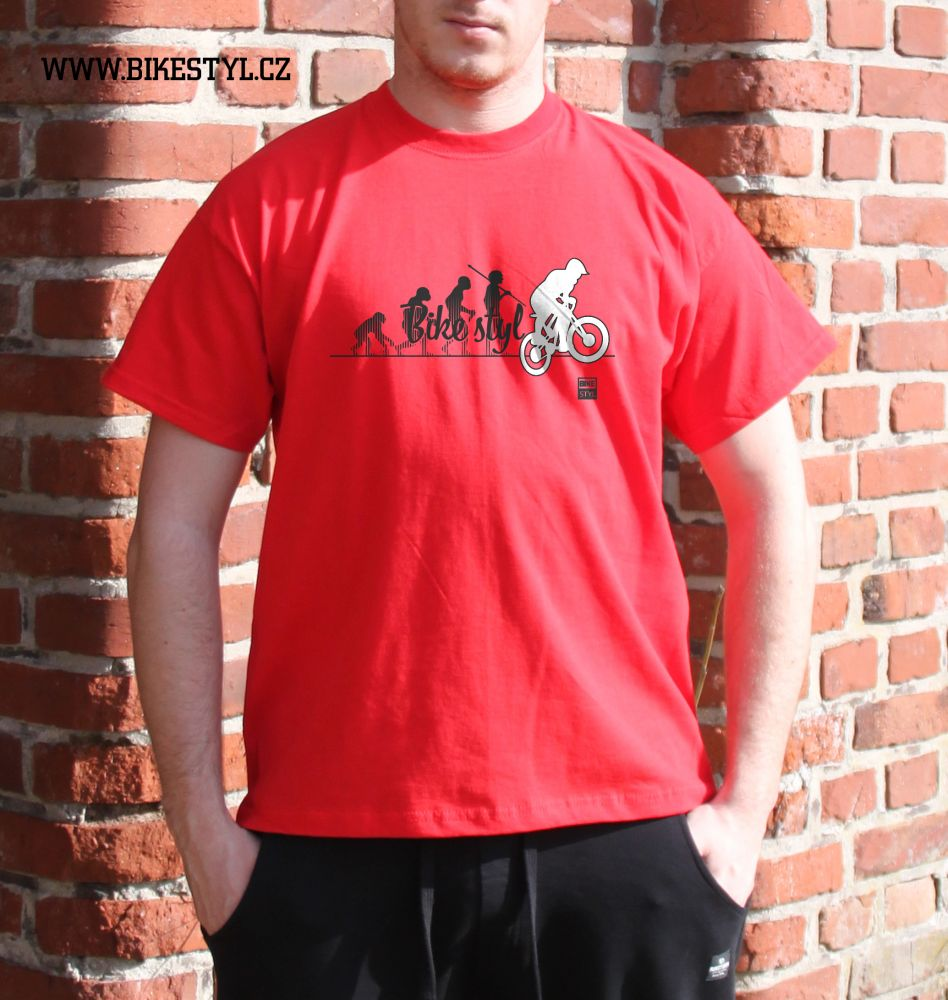 pánské tričko Bike Evolution bikestyl red