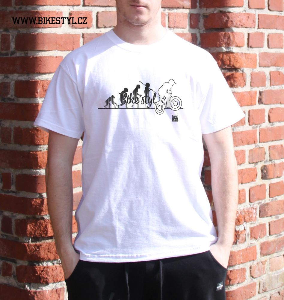 pánské tričko Bike Evolution bikestyl white