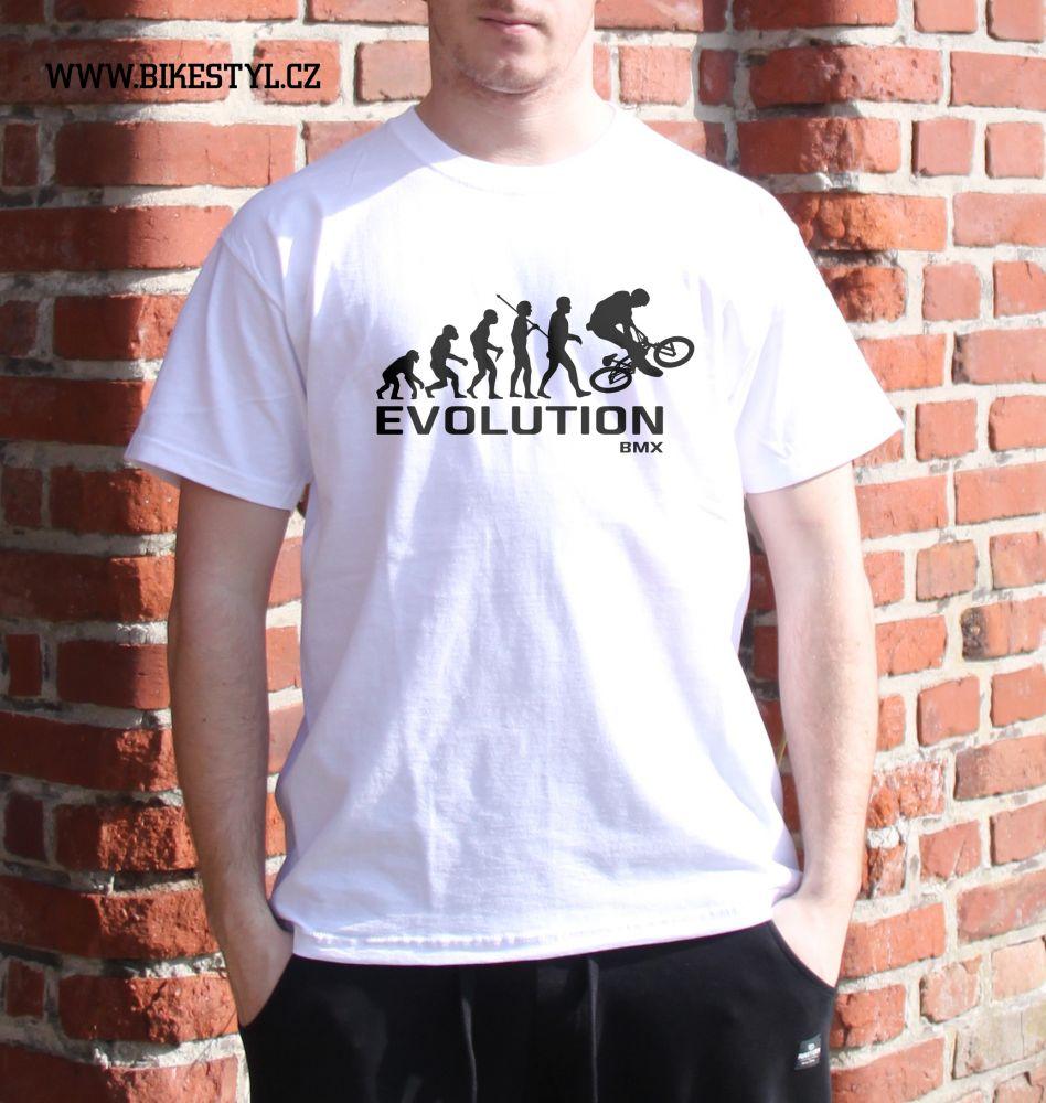pánské tričko BMX Evolution bikestyl white