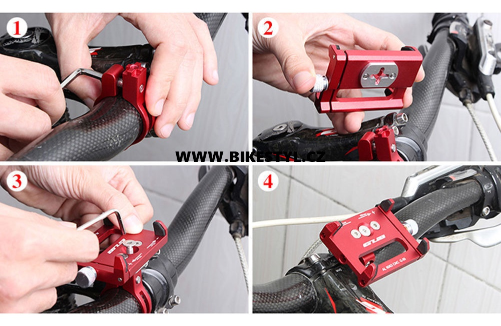 držák mobilu na kolo/motorku phone holder for bike black