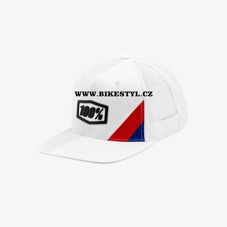 Kšiltovka 100% Cornerstone white Trucker Snapback