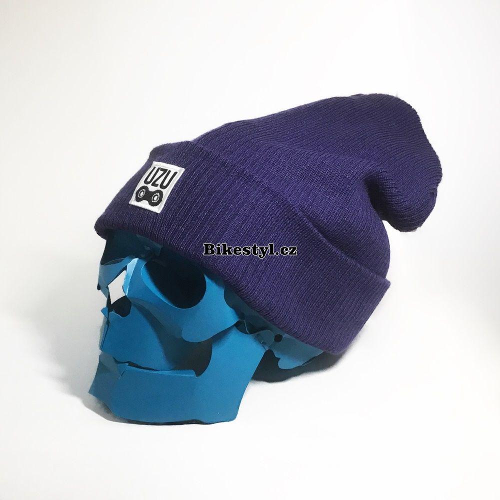 UZU zimní pletená čepice unisex purple