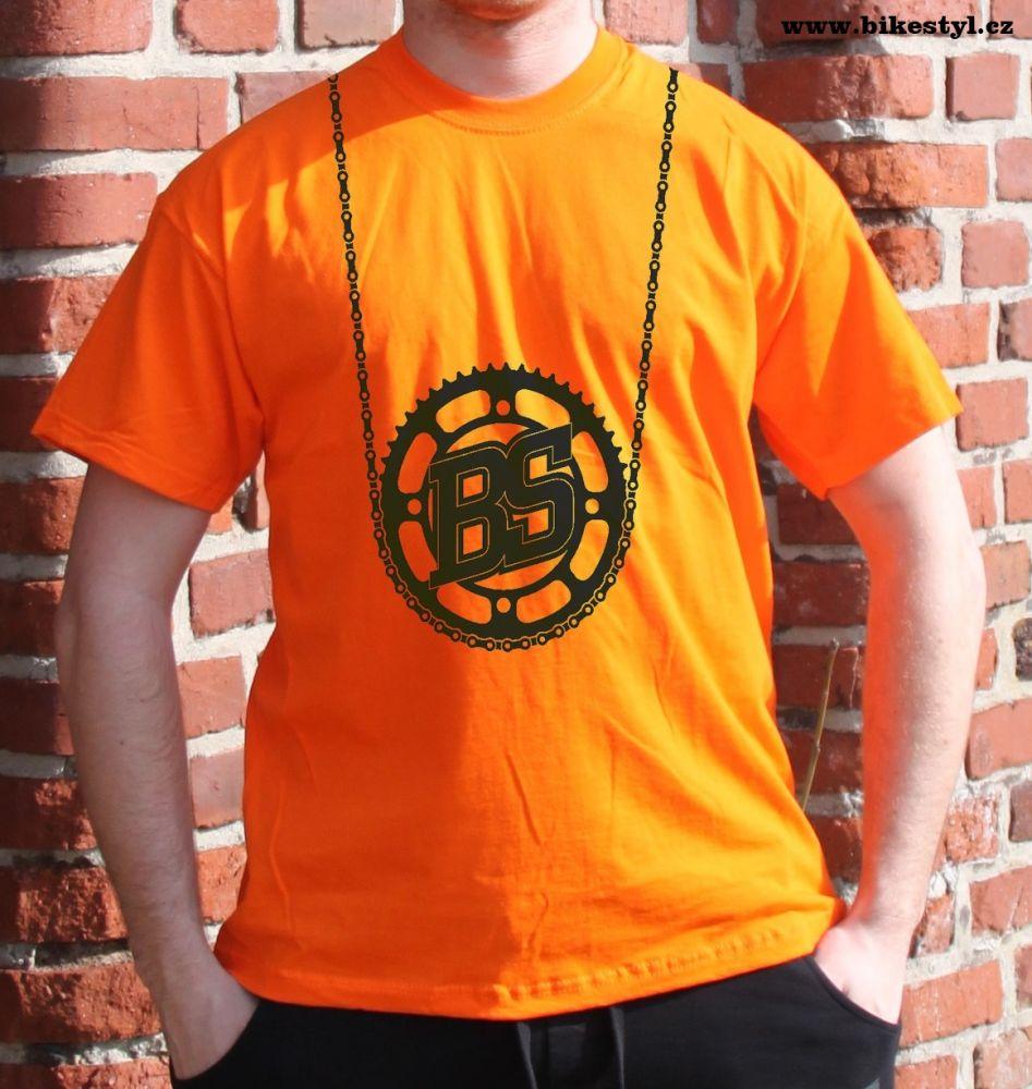 pánské tričko Bike Style bikestyl orange