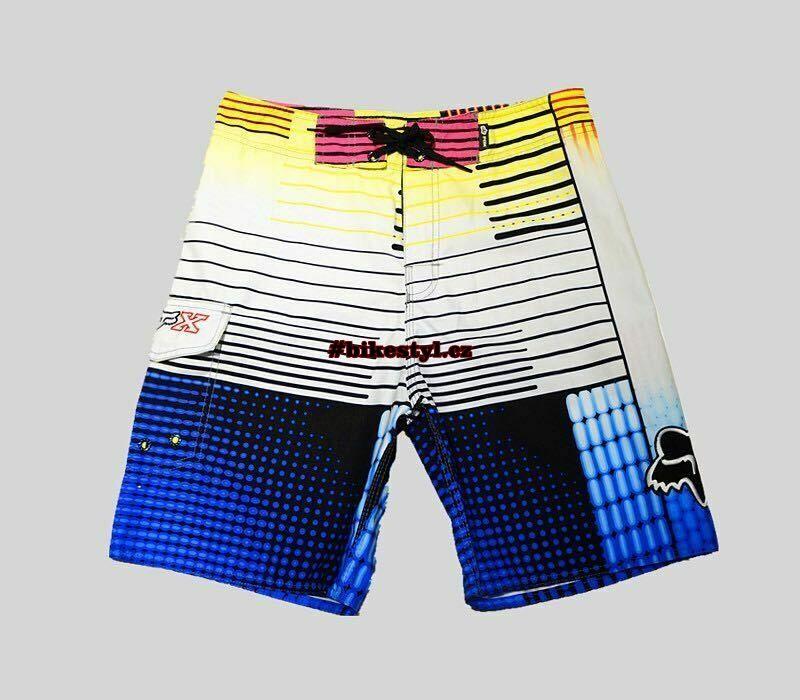 Fox Racing pánské plavky boardshorts yellow blue