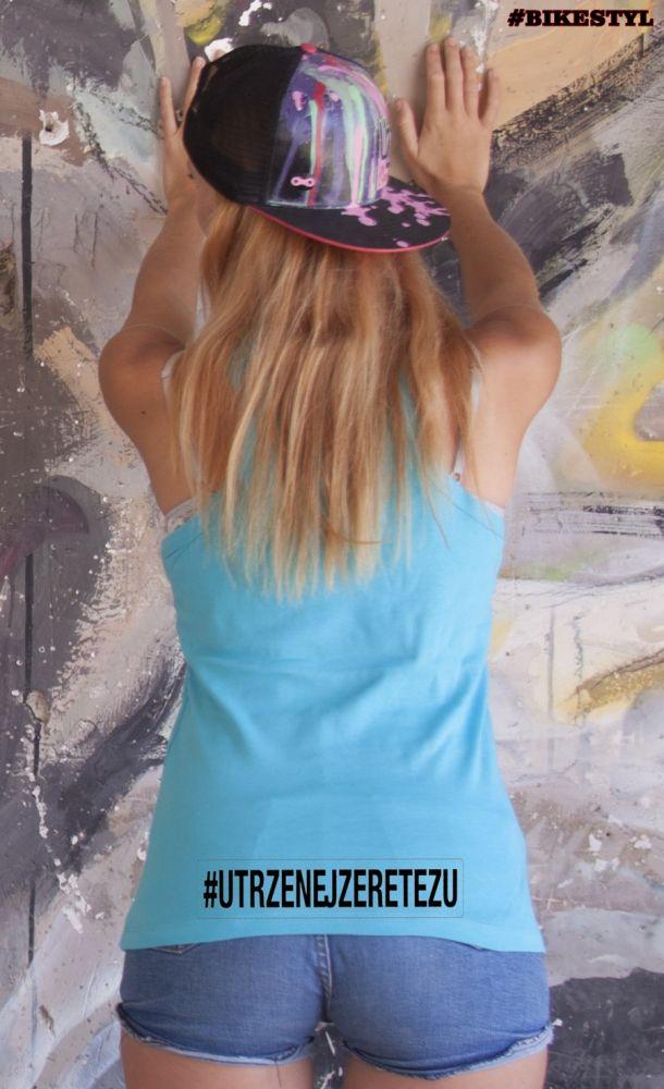Utrženej ze řetězu dámské tílko blue top