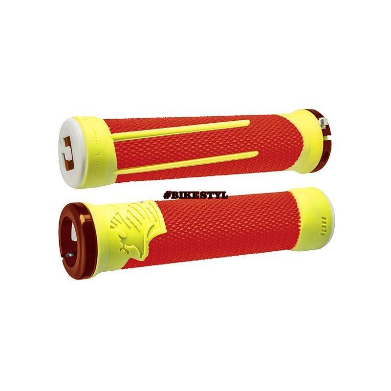 ODI Gripy MTB AG-2 Lock-On Bonus Pack červená-žlutá