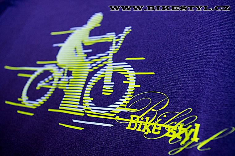 Triko Bikestyl BMX fialové