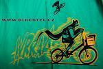 Triko Bikestyl Batman zelené