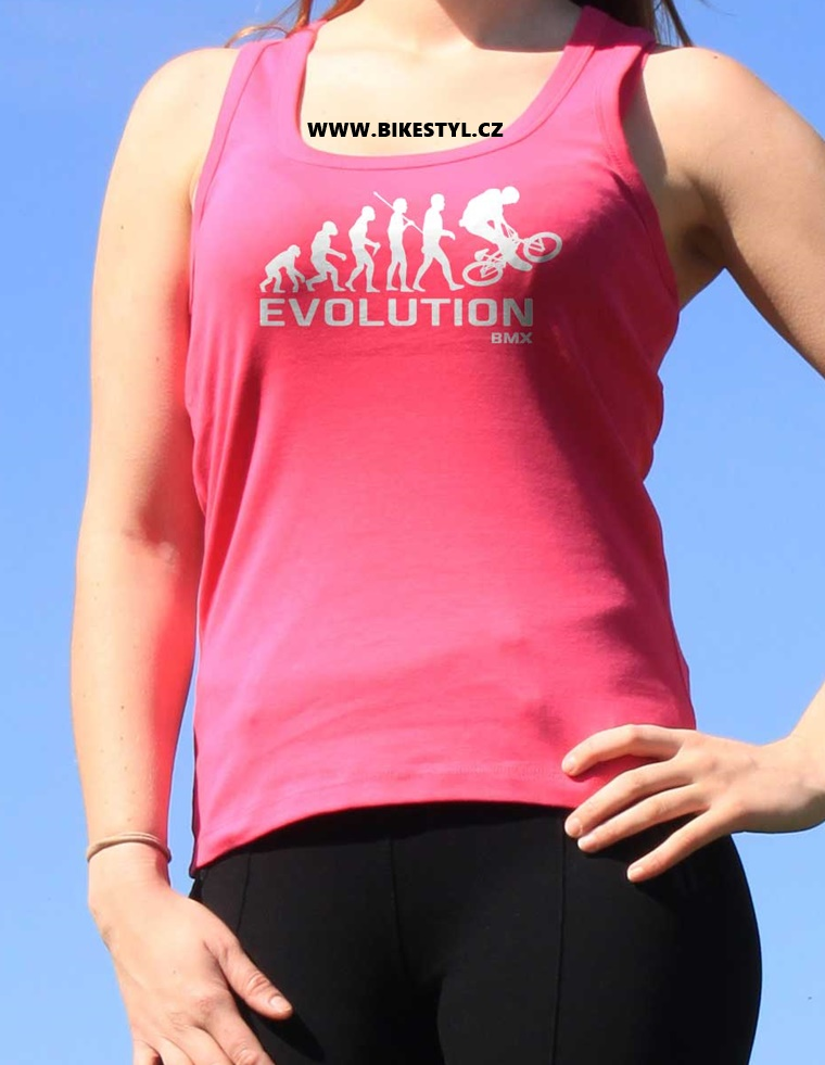 bmx evolution ladies pink top