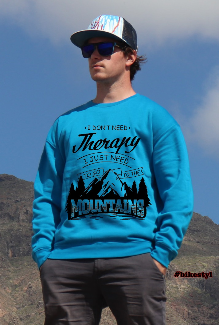 unisex hoodie blue mountains therapy