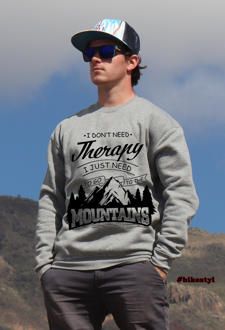 mountains therapy grey hoodie unisex