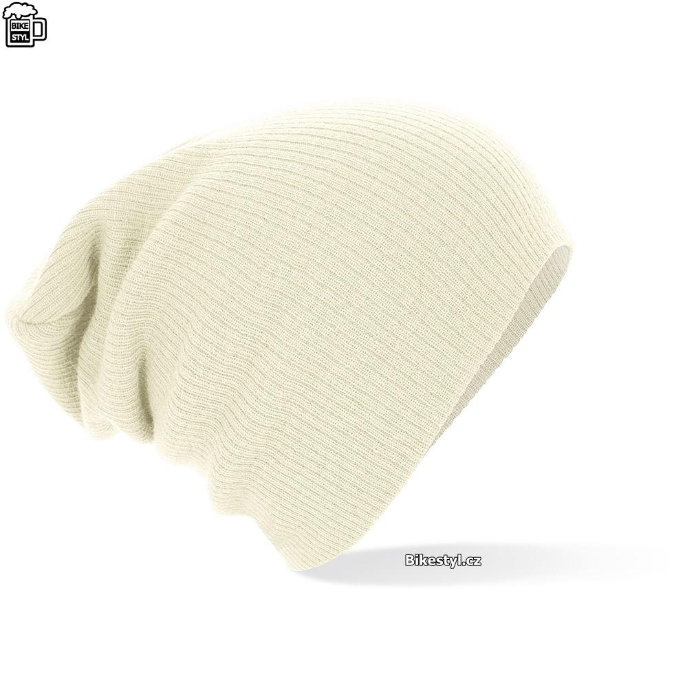 84470735a92 Zimní pletená čepice unisex bílá