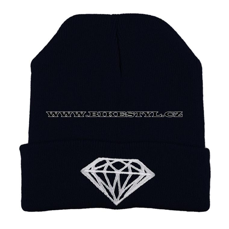 a0d04f30727 Diamond zimní pletena čepice modrá