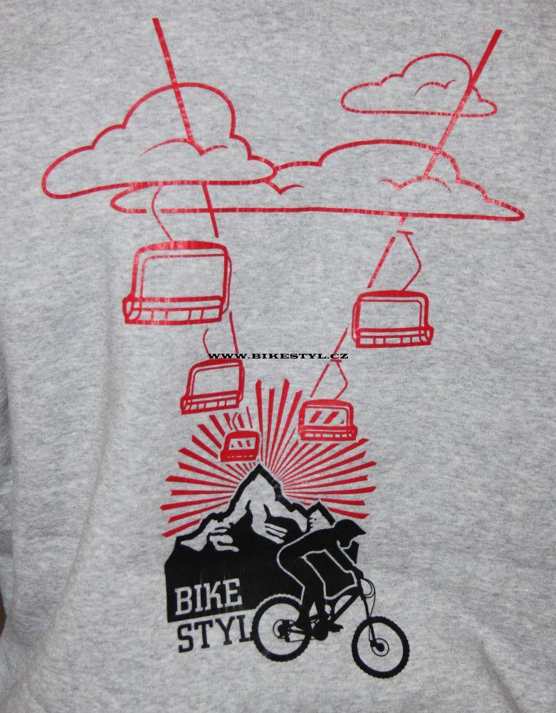 mikina BS Mountain Cableway grey bikestyl