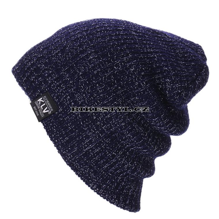Zimní pletená čepice KLV blue  5cde59f14e