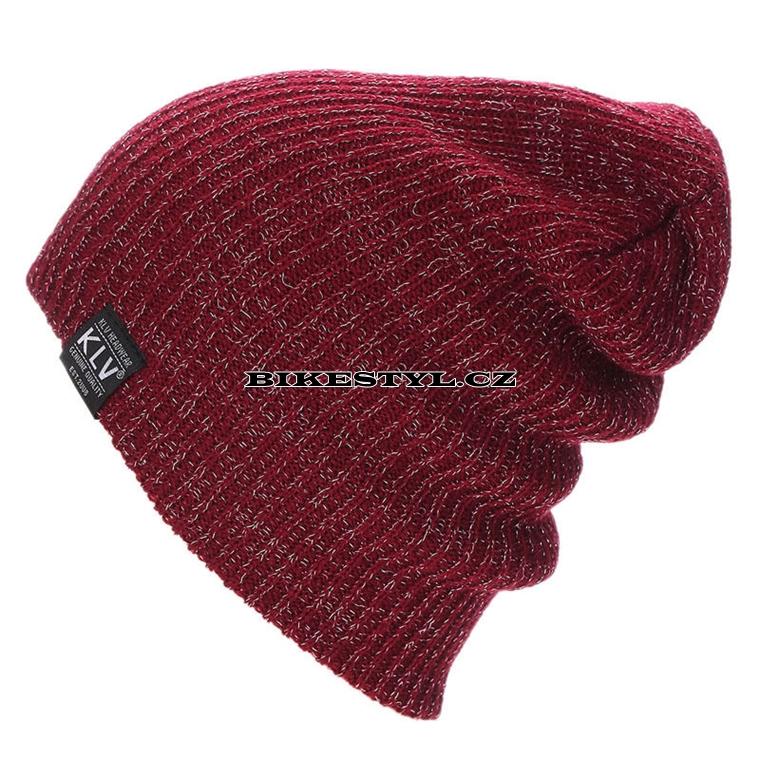 Zimní pletená čepice KLV red
