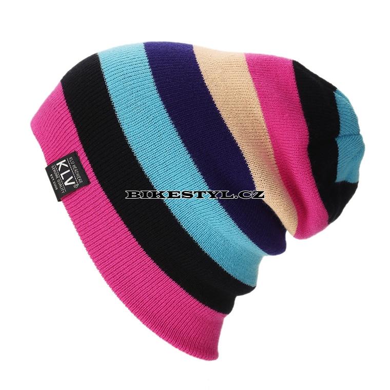 da7e093e7bd Zimní pletená čepice KLV pink