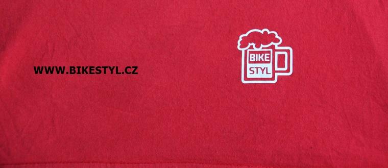 pánské triko Bike Style Chain červené bikestyl