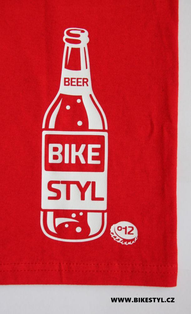 pánské triko IS MY BIKE OK? bikestyl red