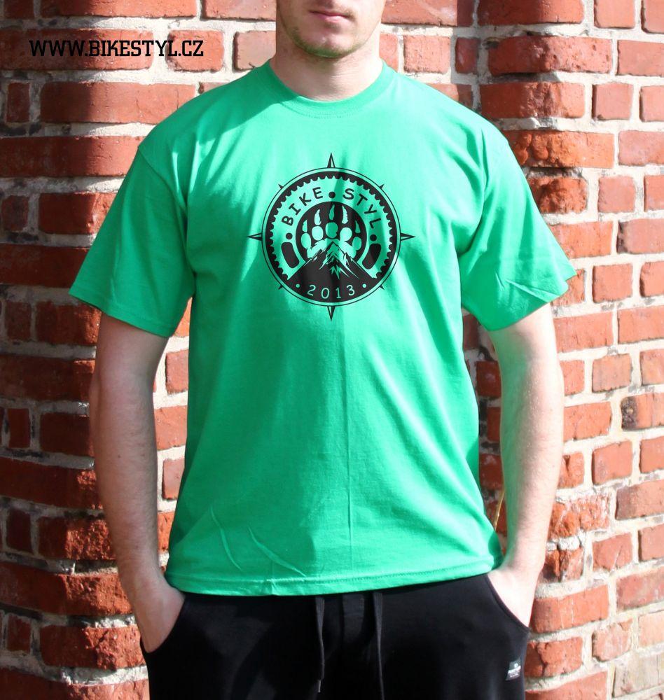 pánské tričko Bikestyl green