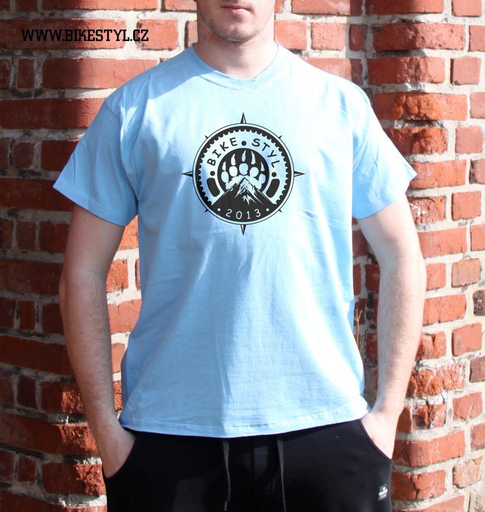 pánské tričko Bikestyl light blue