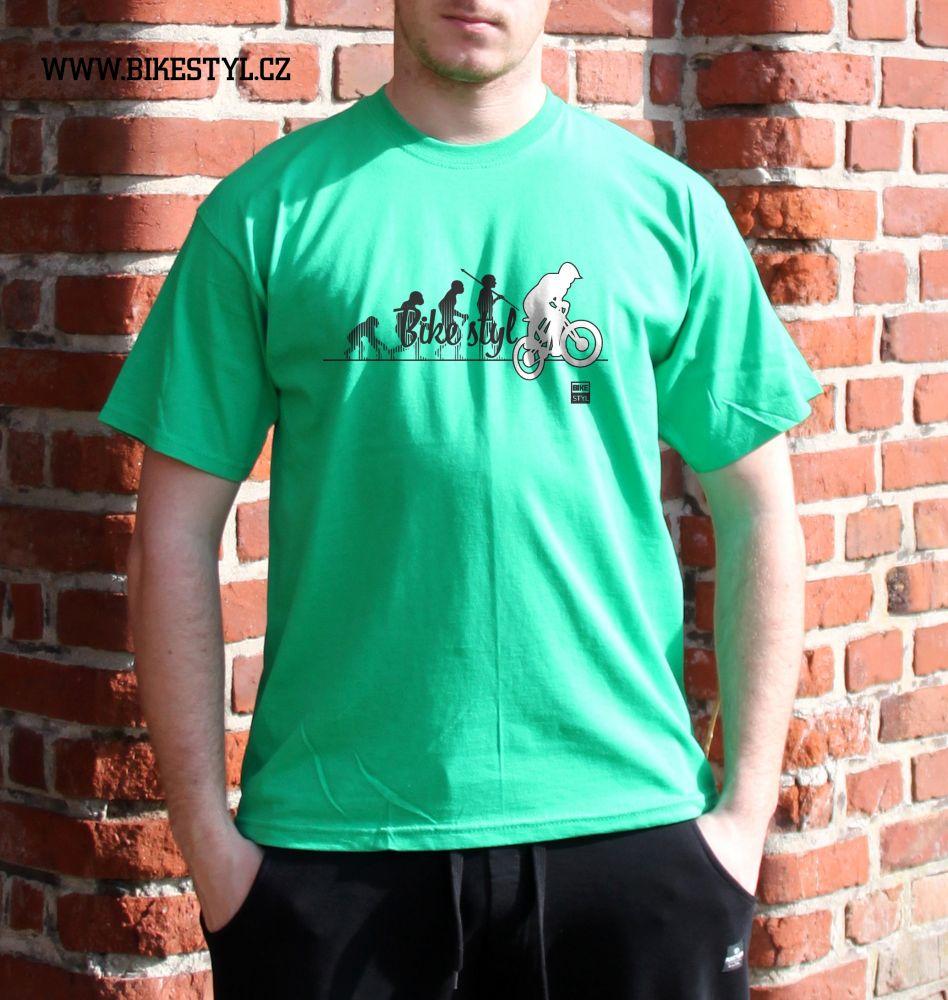 pánské tričko Bike Evolution bikestyl green