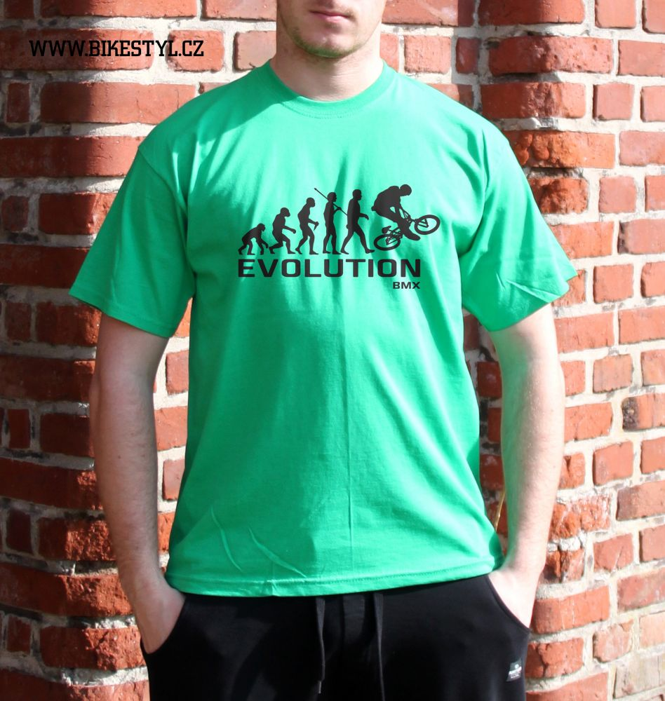 pánské tričko BMX Evolution bikestyl green