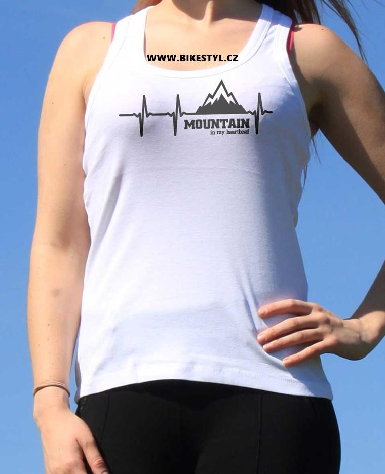 dámské tílko Mountain Heartbeat bikestyl
