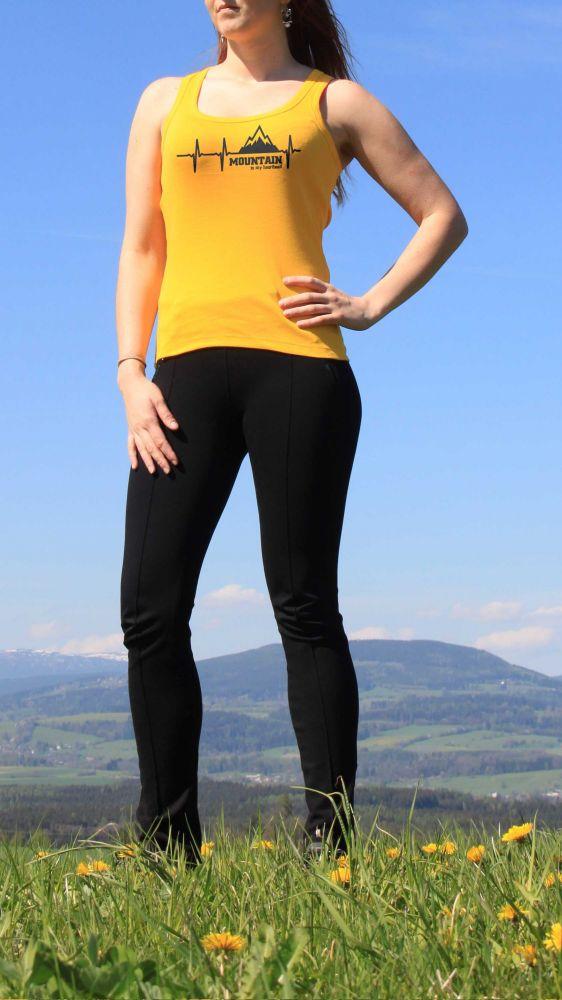dámské tílko Mountain Heartbeat bikestyl žluté