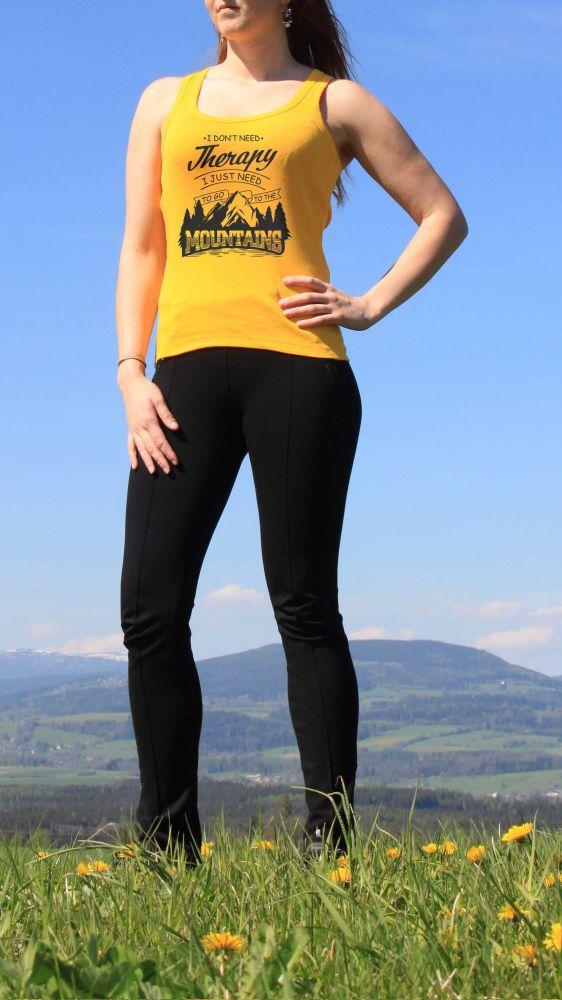 dámské tílko Mountains Therapy bikestyl žluté