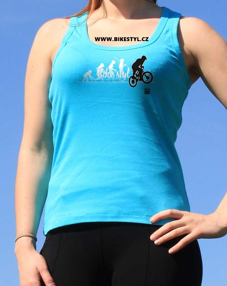 dámské tílko MTB Bike Evolution bikestyl modré