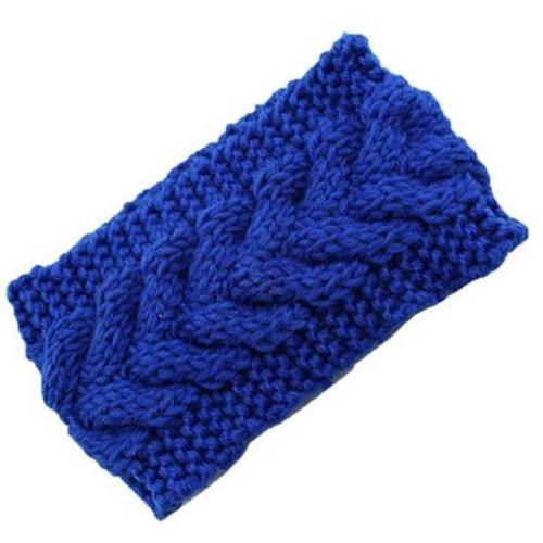 Dámská zimní pletená čelenka navy blue