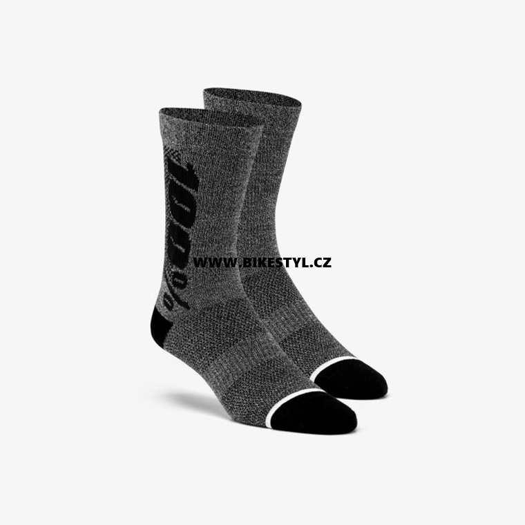 100% ponožky Rythym Merino Charcoal Heather L/XL
