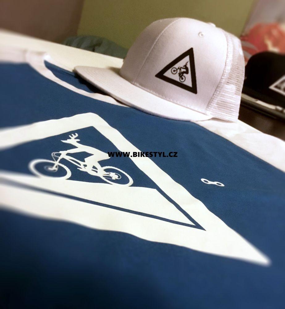 Tričko&kšiltovka UZU combo white-blue T-shirt&snapback