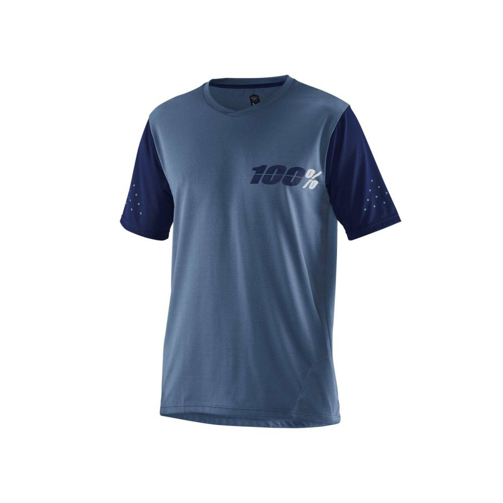dres 100% RIDECAMP JERSEY SLATE BLUE
