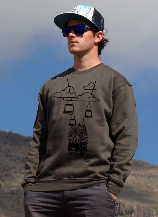 mikina Bikepark unisex dark grey hoodie