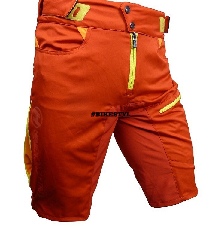 Haven Singletrail kraťasy bike shorts red
