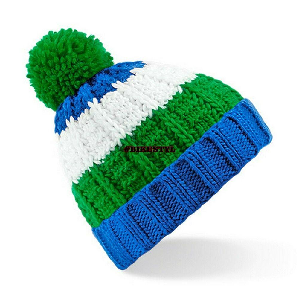 zimní čepice pletený kulich blue-green
