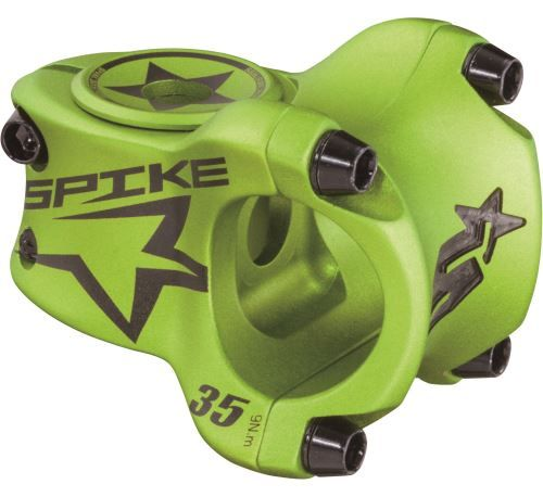 Kokpit Spank: řídítka SPIKE 800, představec SPIKE, gripy lock-on a lampa na řidítka