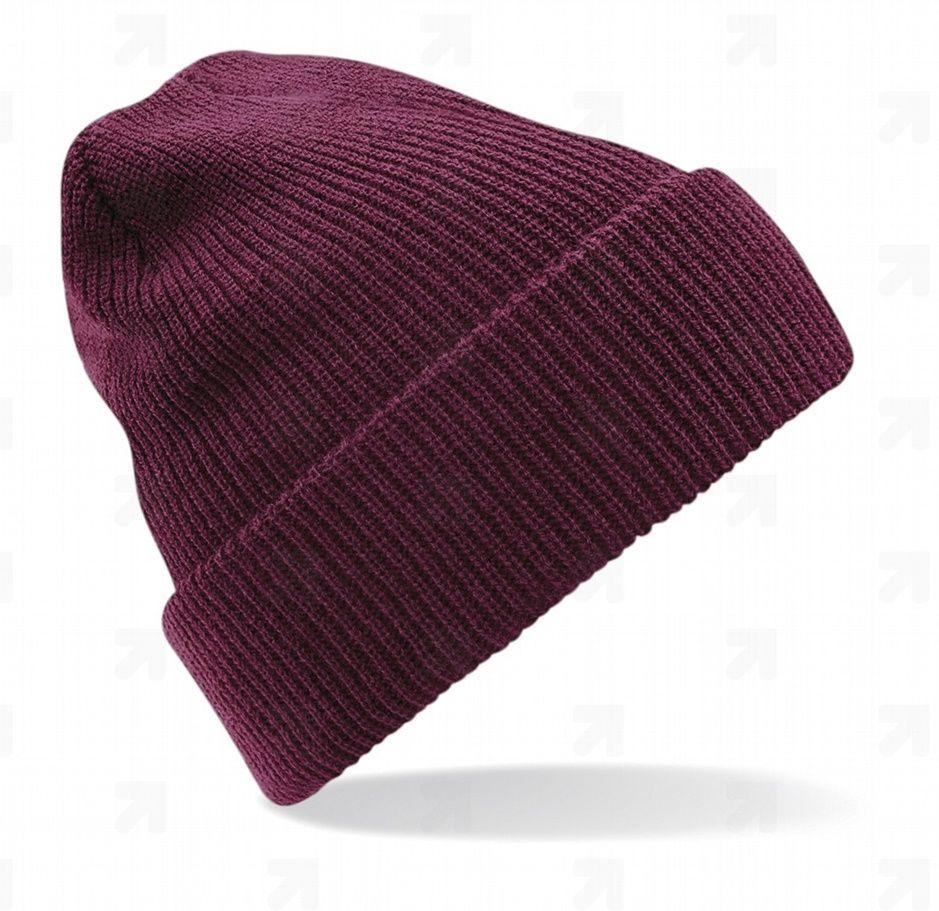 Zimní pletená čepice burgundy