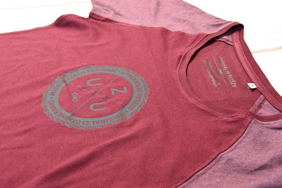 UZU dámské tričko burgundy