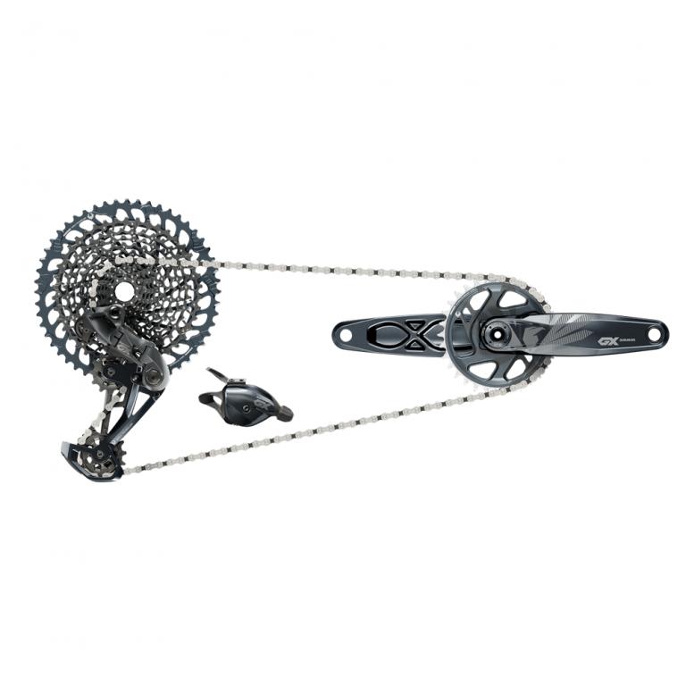 SADA SRAM GX EAGLE DUB LUNAR 175 1X12 kliky, převodník, přehazovačka, kazeta, řadící páčka a řetěz