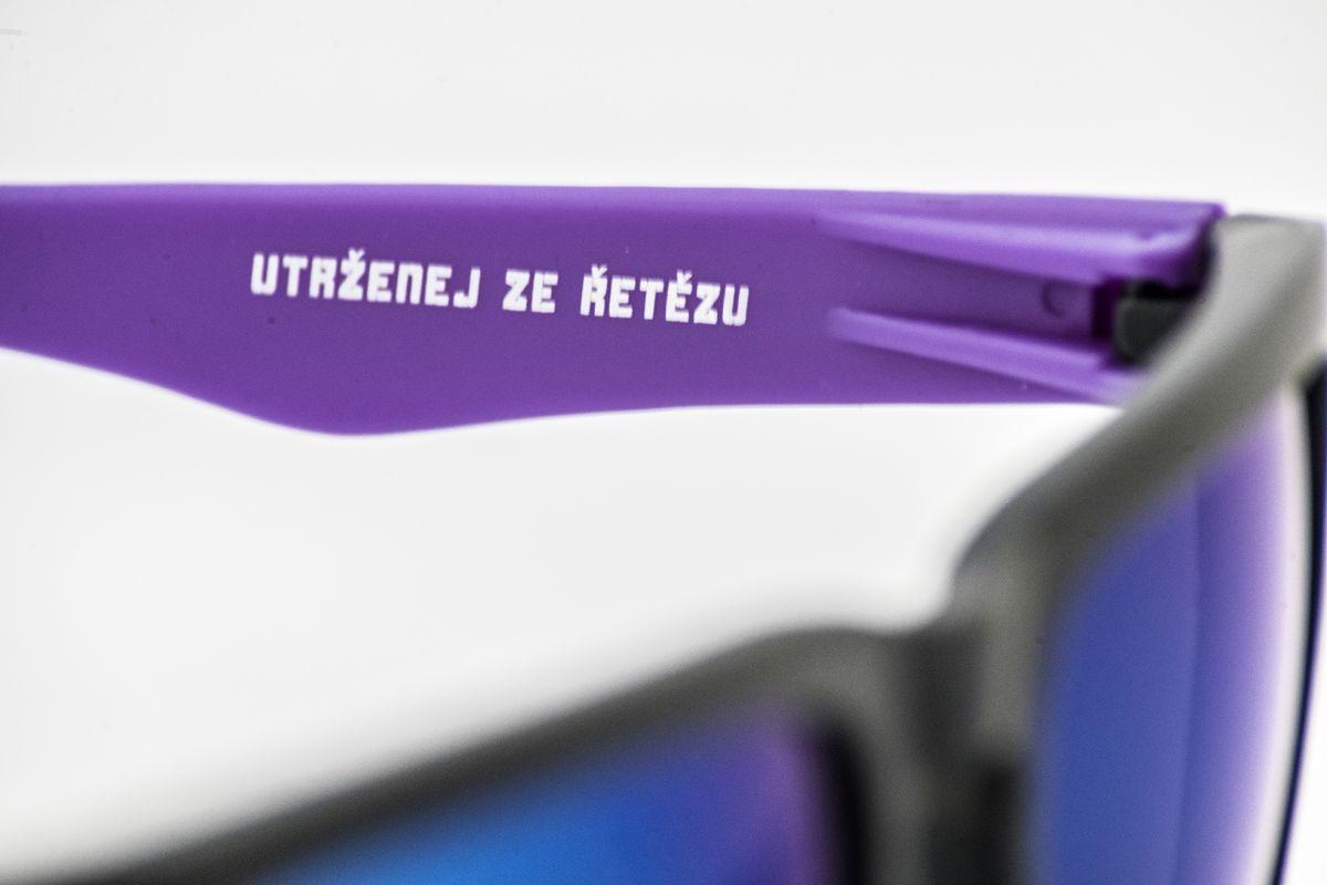 sluneční brýle Utrženej ze řetězu purple blue sunglasses