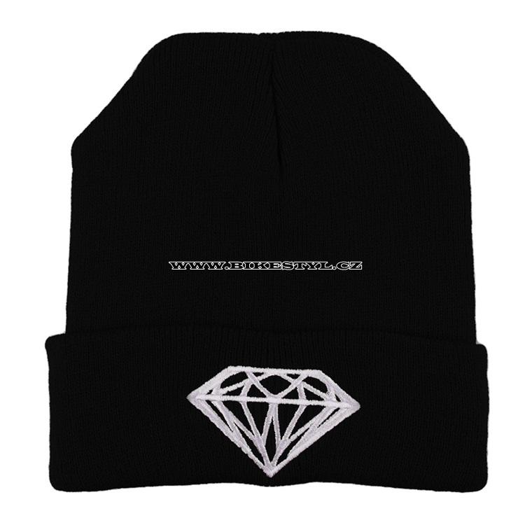Diamond zimní pletena čepice černá