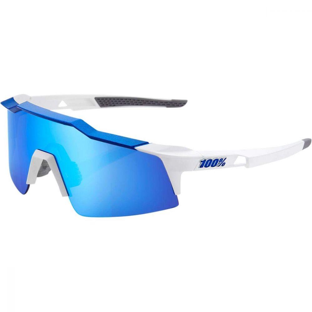 sluneční brýle 100 Percent Speedcraft SL - matte white metallic blue . hiper blue multipayer mirror lens