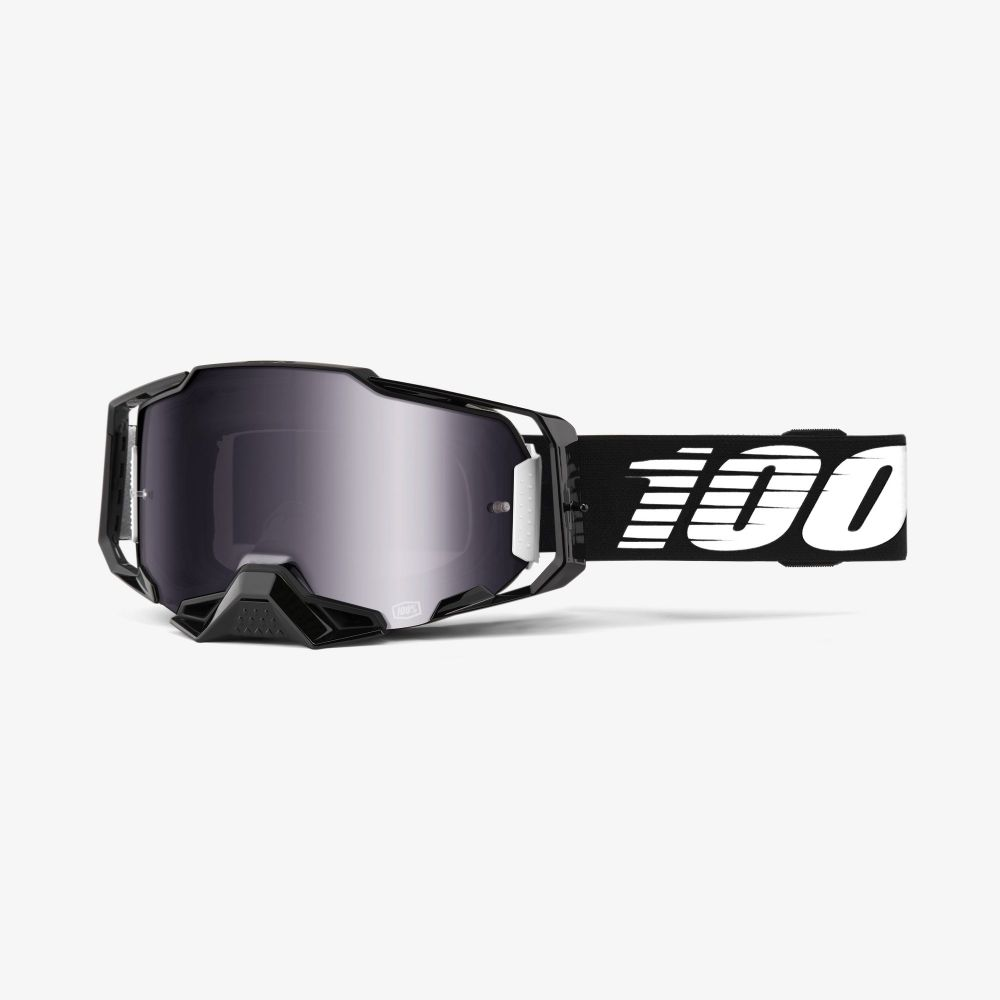 100% brýle Armega google black - silver flash mirror lens