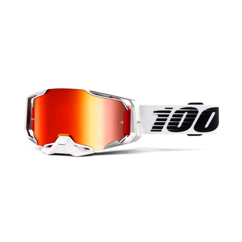 100% brýle Armega google Lightsaber - red mirror lens