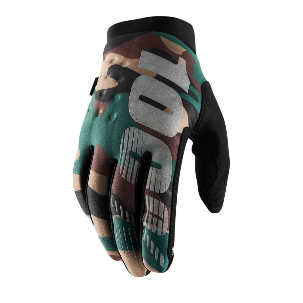 100% rukavice BRISKER GLOVES CAMO/BLACK